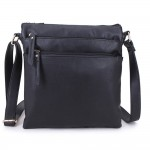 Long and Son A1638 Womens Black Crossbody Bag