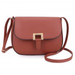 Long and Son F8273 Womens Brown Crossbody Bag