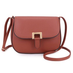 Long and Son F8273 Womens Brown Crossbody Bag