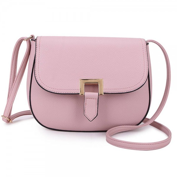 Long and Son F8273 Womens Pink Crossbody Bag