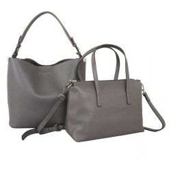 Red Cuckoo 556 Womens Grey Duo Shoulder Bags