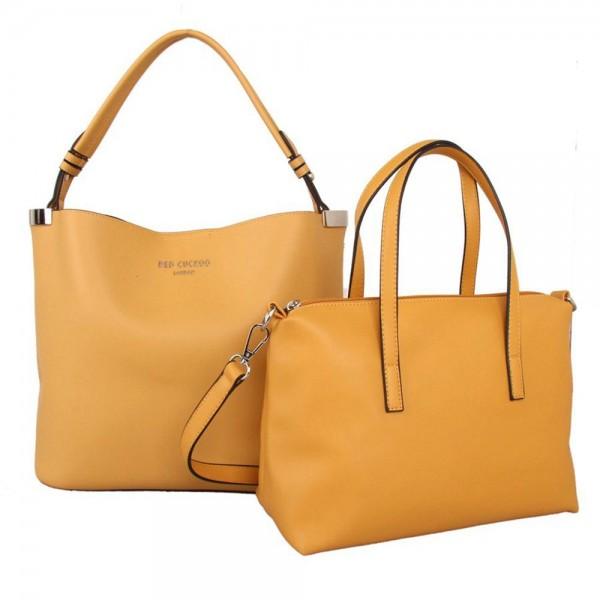 Red Cuckoo 556 Womens Mustard Duo Shoulder Bags
