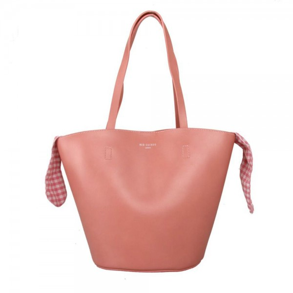 Red Cuckoo 559 Womens Pink Tote Bag