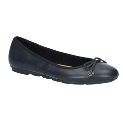 Hush Puppies Abby Bow Ballet Black Slip On Pump Shoe