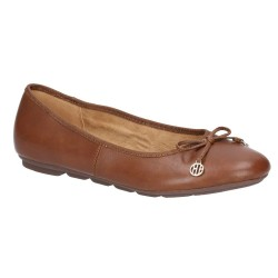 Hush Puppies Abby Bow Ballet Brown Slip On Pump Shoe
