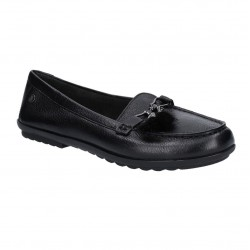 Hush Puppies Aidi Puff Black Loafer Shoe