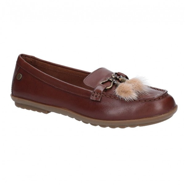Hush Puppies Aidi Puff Brown Loafer Shoe