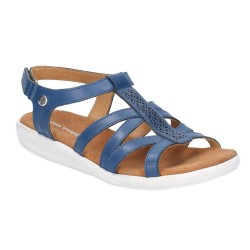 Hush Puppies Callie Navy Touch Fastening Sandal