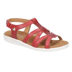 Hush Puppies Callie Touch Red Fastening Sandal