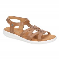 Hush Puppies Callie Touch Tan Fastening Sandal