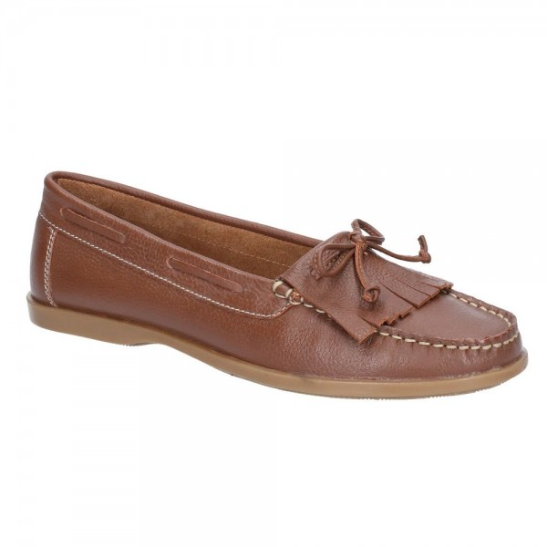 Hush Puppies Coco Moccassin Tan Slip On Shoe