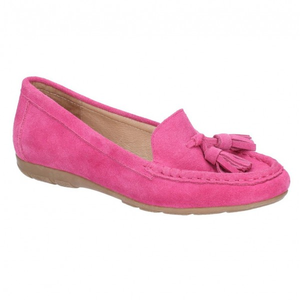 Hush Puppies Daisy Pink Slip On Moccasin Shoe