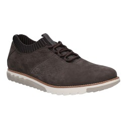 Hush Puppies Expert Knit Oxford Off Black Lace Up Trainer