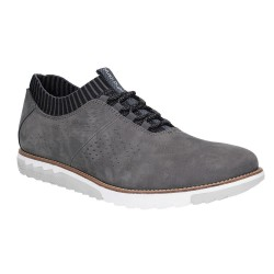 Hush Puppies Expert Knit Oxford Dark Grey Lace Up Trainer