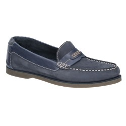 Hush Puppies Finn Navy Slip On Shoe
