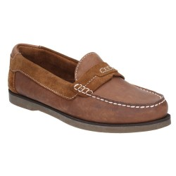 Hush Puppies Finn Tan Slip On Shoe