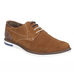 Hush Puppies Frankie Cognac Lace Up Shoe