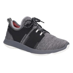 Hush Puppies Geo BounceMax Dark Grey Lace Up Trainer