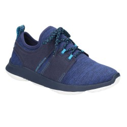 Hush Puppies Geo BounceMax Navy Lace Up Trainer