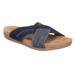 Hush Puppies Gizmo Mule Navy Casual Cross Open Sandal
