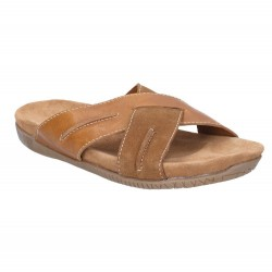 Hush Puppies Gizmo Mule Brown Casual Cross Open Sandal