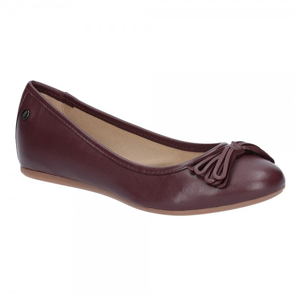 Hush Puppies Heather Bow Wine Ballet Shoe