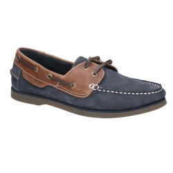 Hush Puppies Henry Mens Blue-Tan Shoe