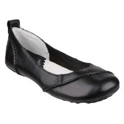 Hush Puppies Janessa Black Slip On Shoe