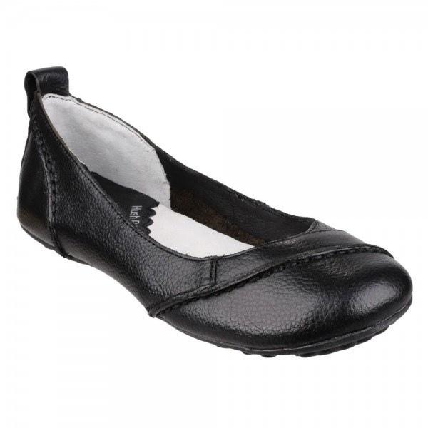 Hush Puppies Janessa Black Slip On Shoe