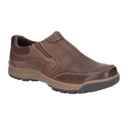 Hush Puppies Jasper Brown Slip On Shoe