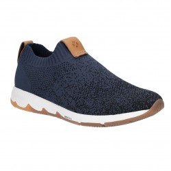 Hush Puppies Field Sock Navy Slip On Trainer