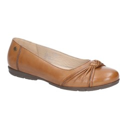 Hush Puppies Millie Tan Ballerina Slip On Shoe