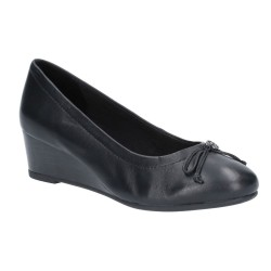 Hush Puppies Morkie Charm Black Slip On Shoe