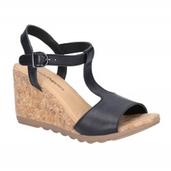 Hush Puppies Pekingese Black Tstrap Buckle Sandal