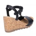 Hush Puppies Pekingese Black Tstrap Buckle Sandal