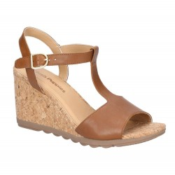 Hush Puppies Pekingese Tan Tstrap Buckle Sandal