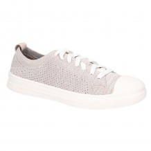 Hush Puppies Schnoodle Taupe Lace Up Summer Shoe