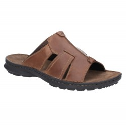 Hush Puppies Sid Mule Brown Slip On Sandal