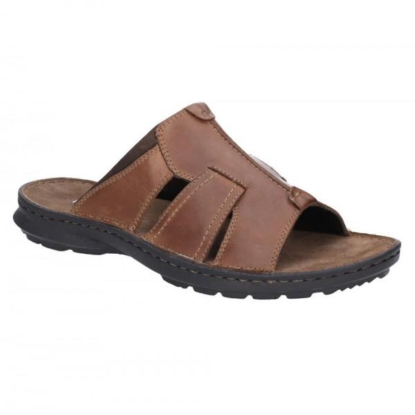Hush Puppies Sid Mule Brown Slip On Sandal