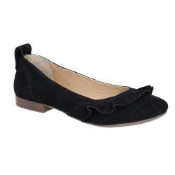 Hush Puppies Willow Ballerina Black Slip On Shoe