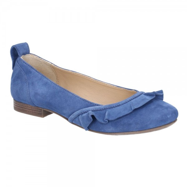 Hush Puppies Willow Ballerina Blue Slip On Shoe