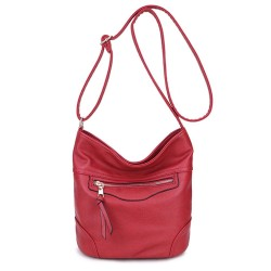 Long and Son 18804 Womens Red Shoulder Bag