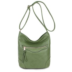 Long and Son 18804 Womens Green Shoulder Bag