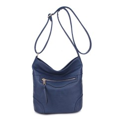 Long and Son 18804 Womens Blue Shoulder Bag