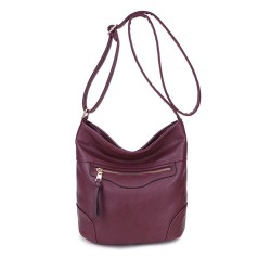 Long and Son 18804 Womens Wine Shoulder Bag