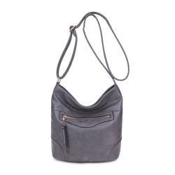 Long and Son 18804 Womens Grey Shoulder Bag