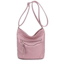 Long and Son 18804 Womens Pink Shoulder Bag