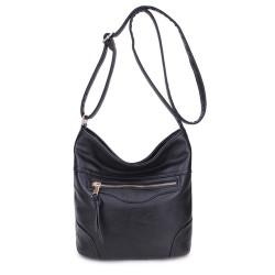 Long and Son 18804 Womens Black Shoulder Bag