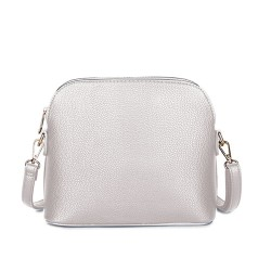 Long and Son 31135 Womens Silver Crossbody Bag