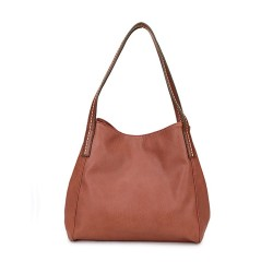 Long and Son 17103 Womens Brown Shoulder Bag